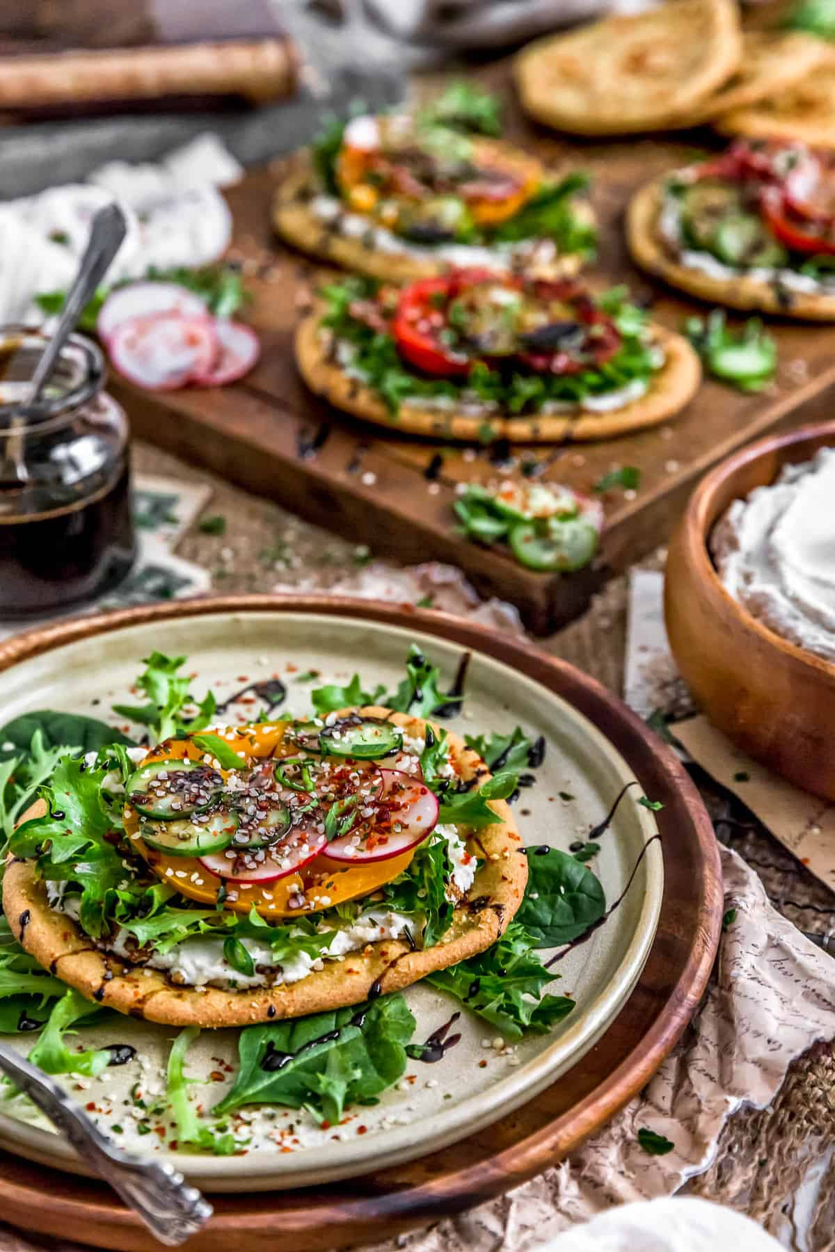 Plated Mini Mediterranean Quinoa Flatbreads