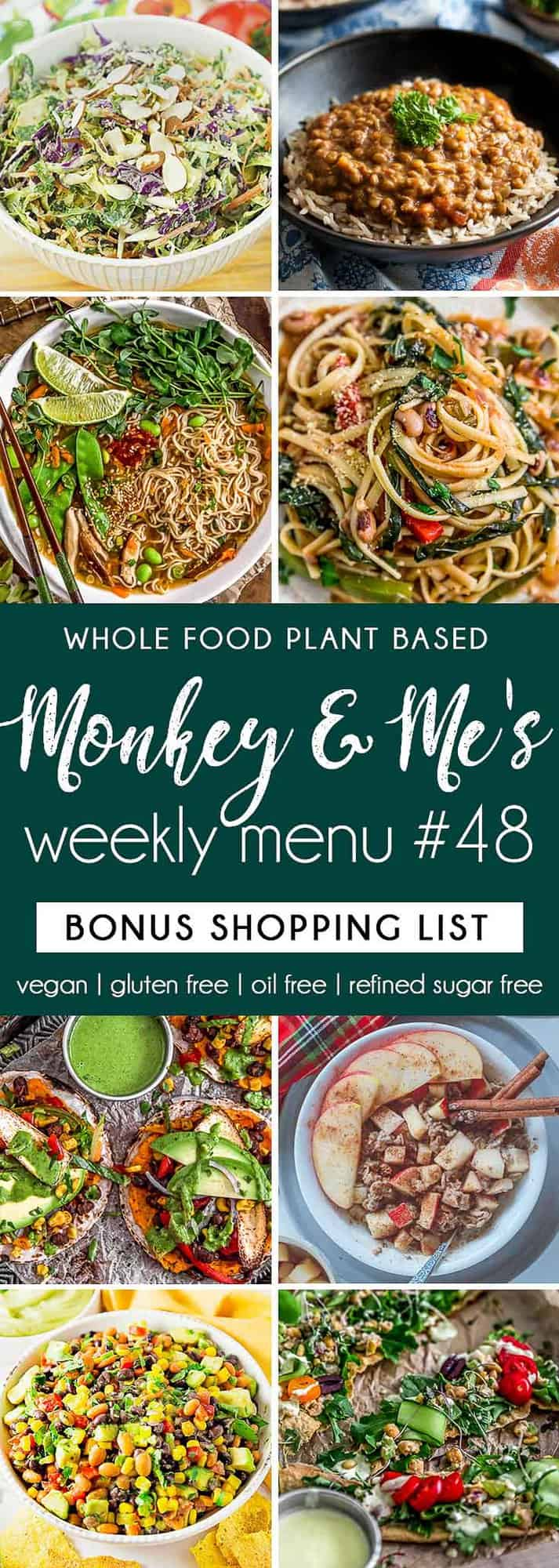 Monkey and Me's Menu 48 featuring 8 recipes