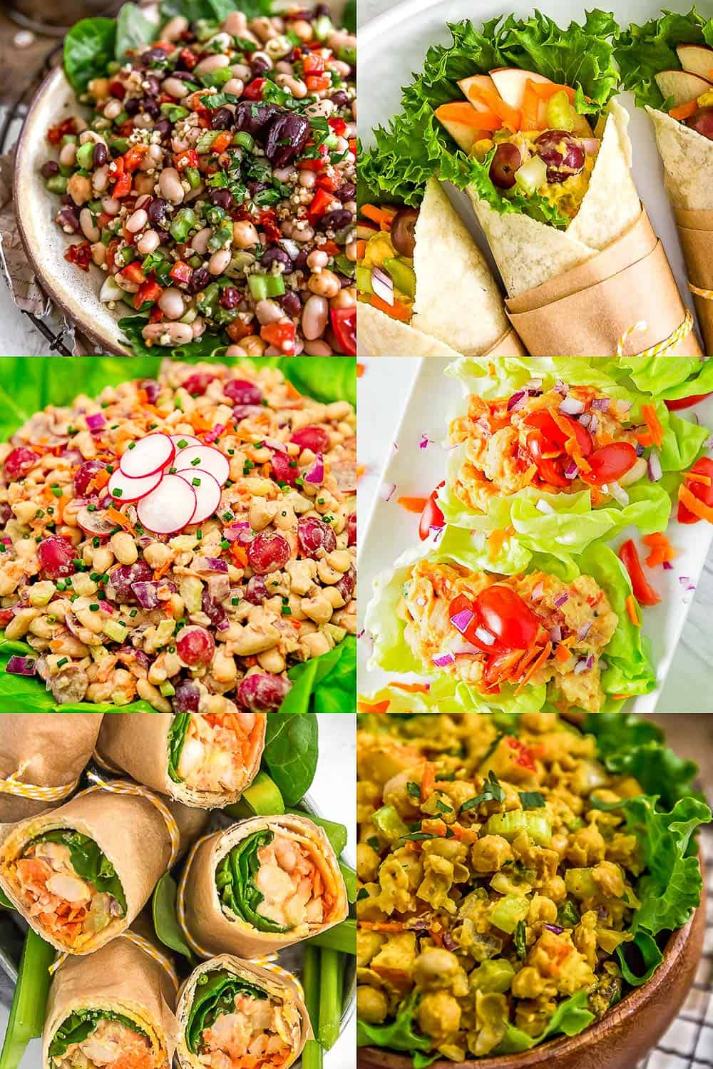 Six Vegan Bean Salad Images