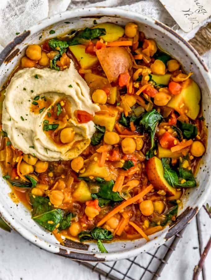 Bowl of Berbere Potato Bean Stew