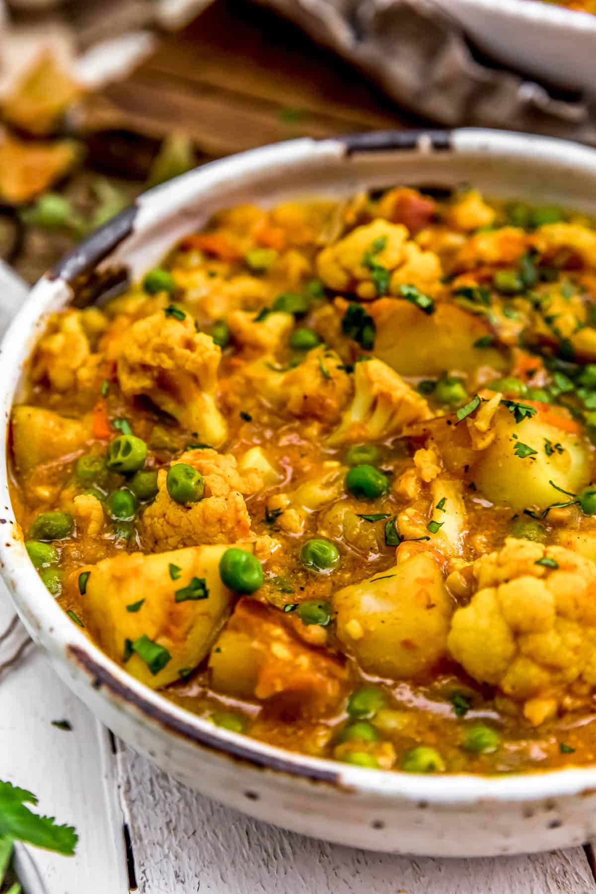 Close up of Cauliflower Potato Curry