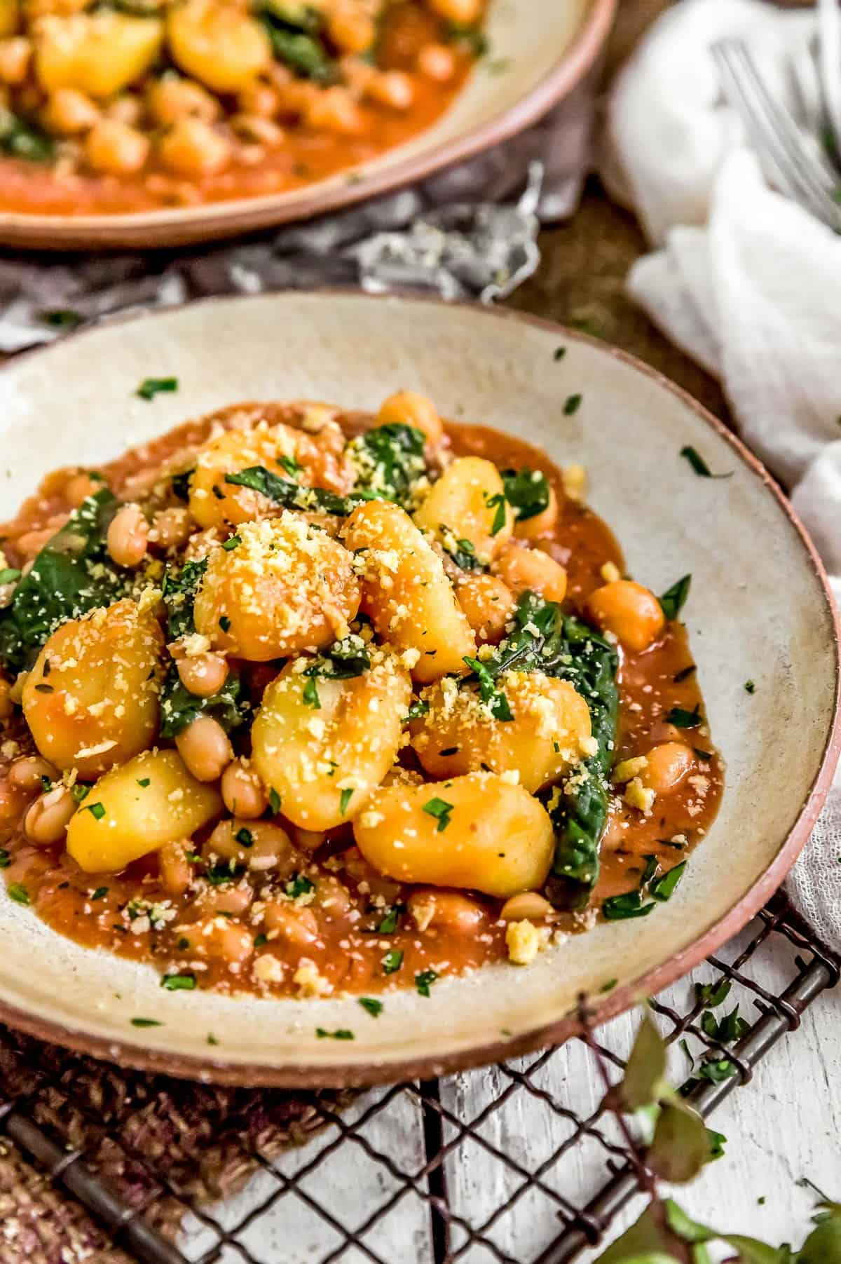 Close up of Creamy Toscana Gnocchi