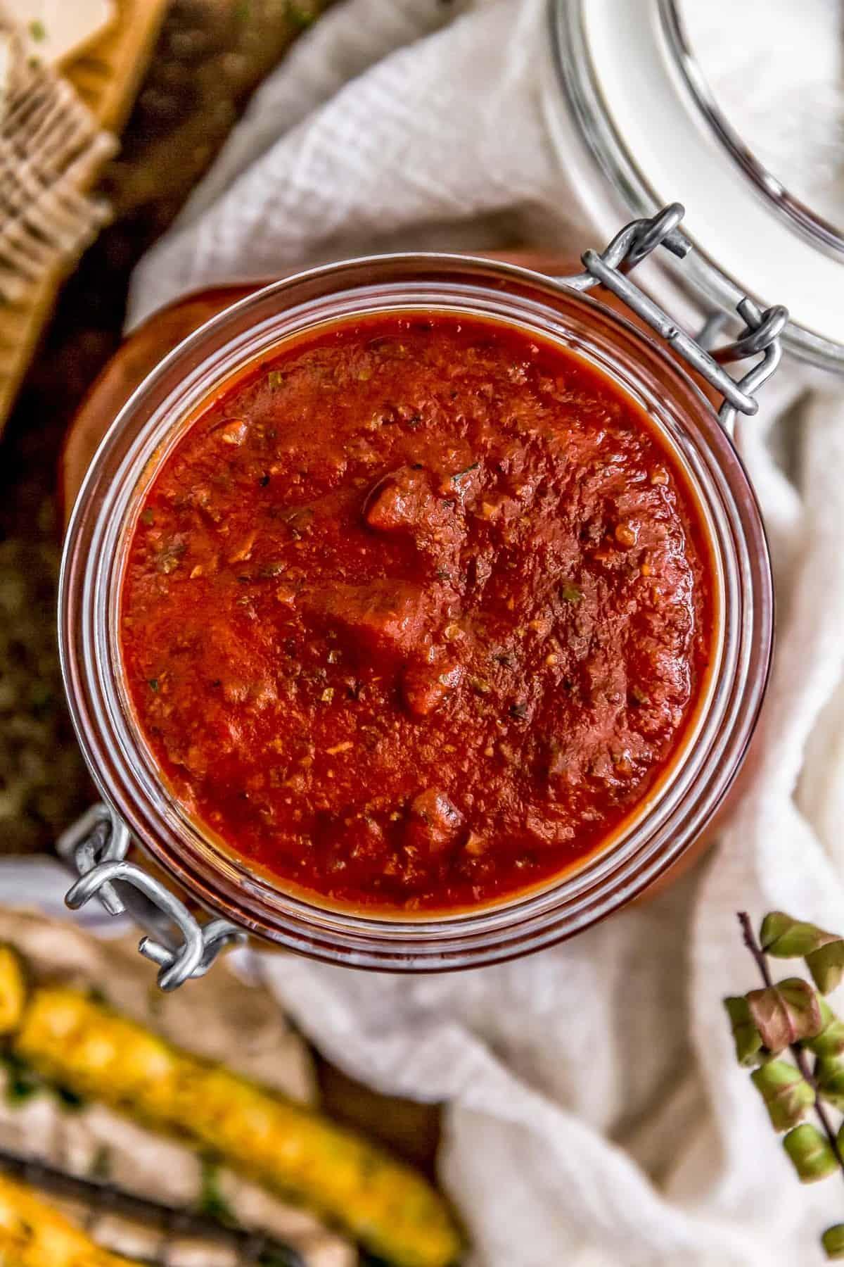 Jar of Easy Healthy Marinara Sauce