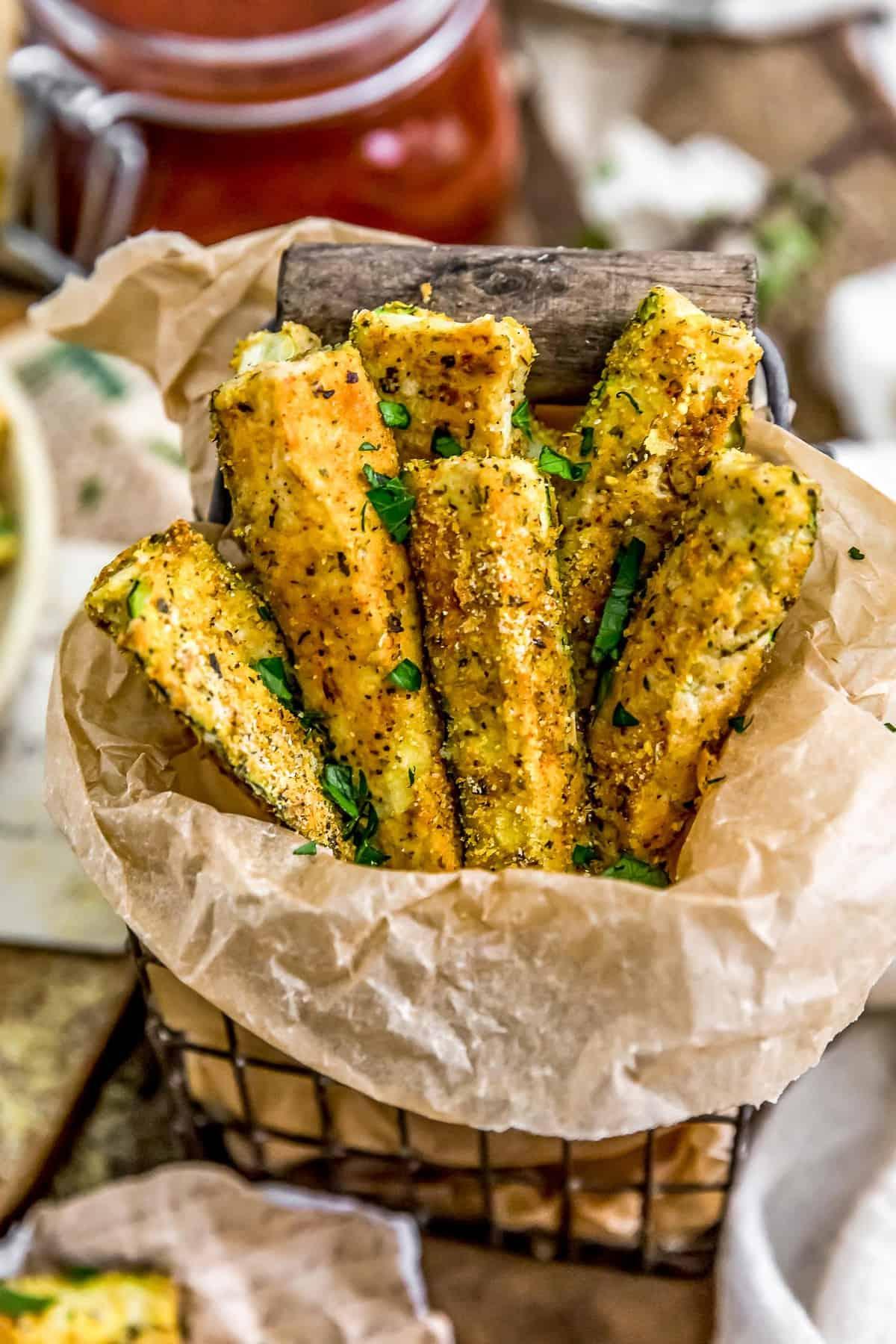Italian Baked Zucchini Fries