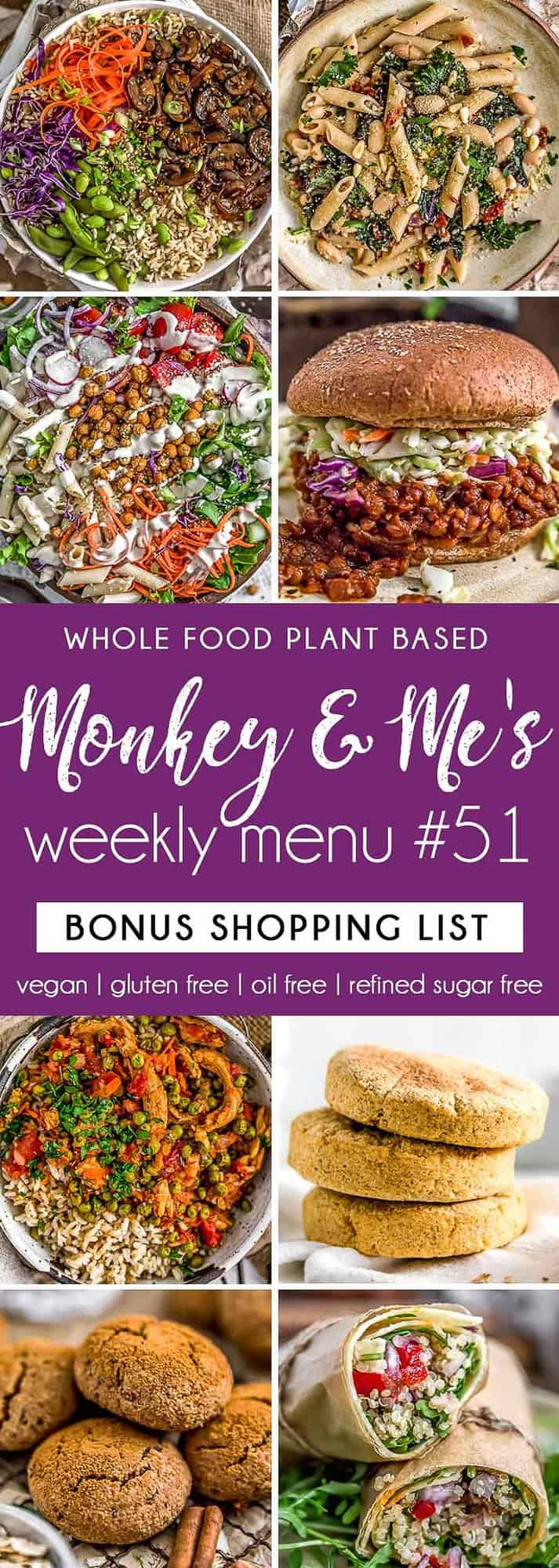 Monkey and Me's Menu 51 featuring 8 recipes