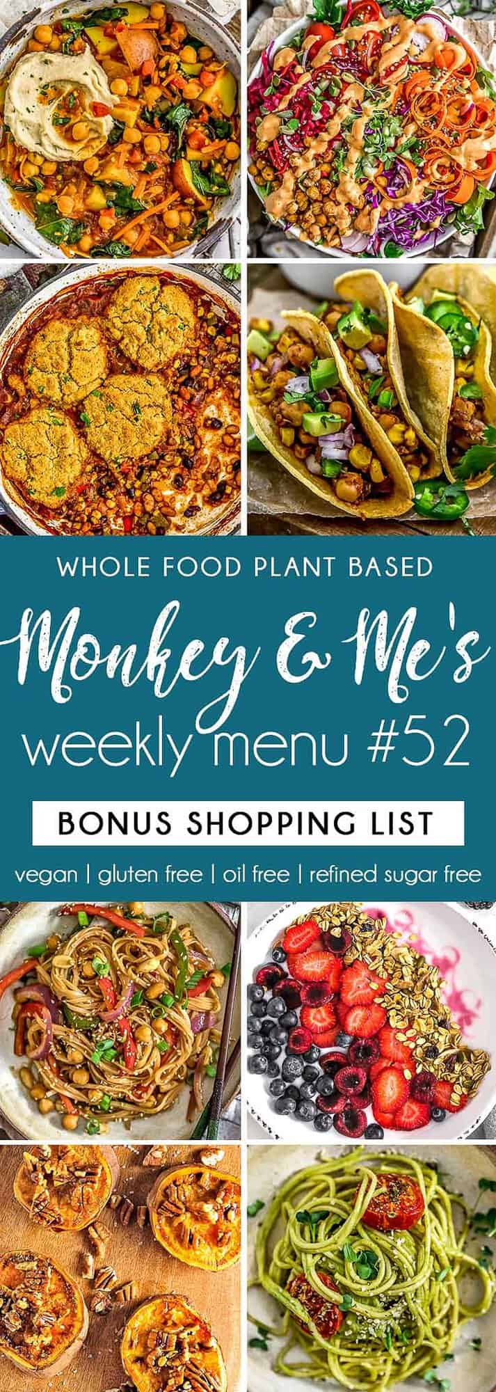 Monkey and Me's Menu 52 featuring 8 recipes