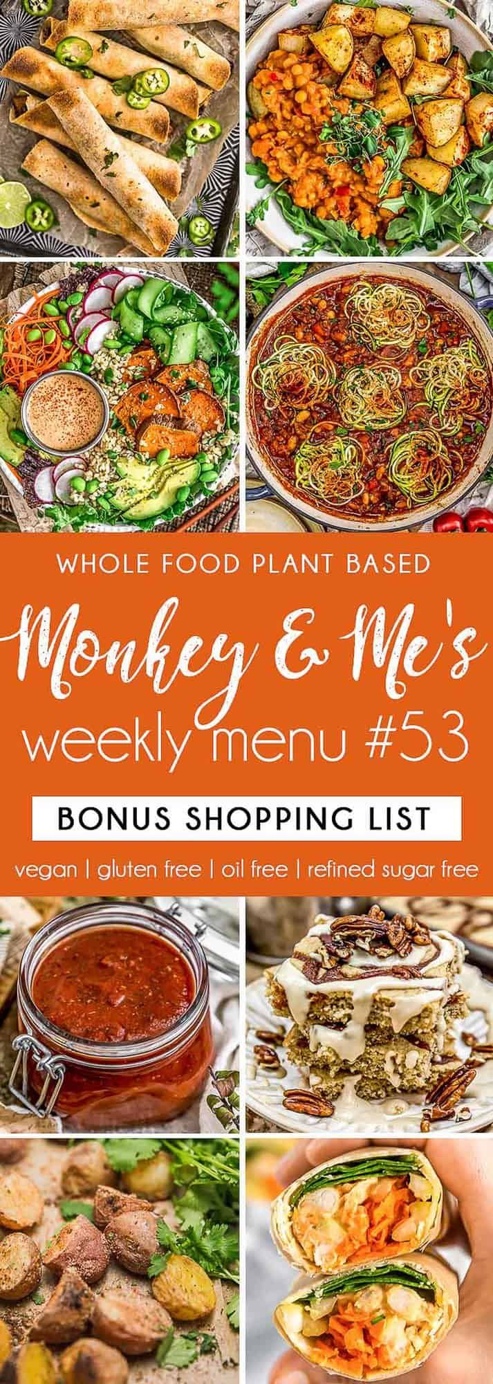 Monkey and Me's Menu 53 featuring 8 recipes