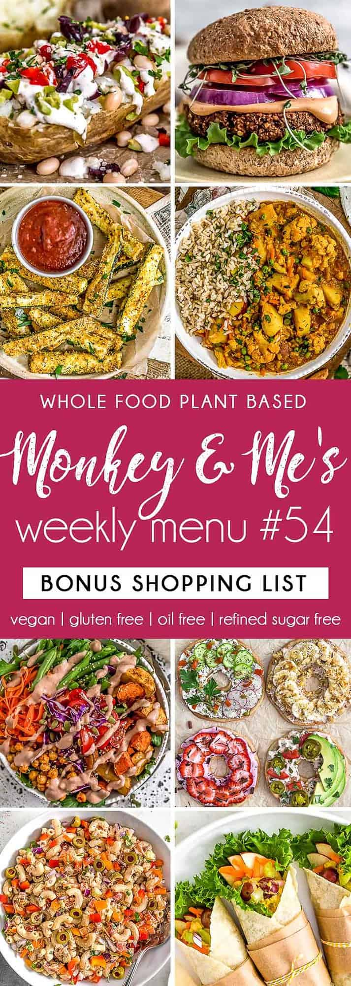 Monkey and Me's Menu 54 featuring 8 recipes