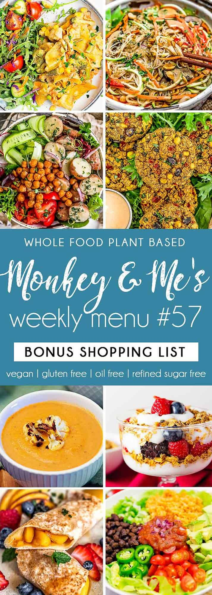 Monkey and Me's Menu 57 featuring 8 recipes