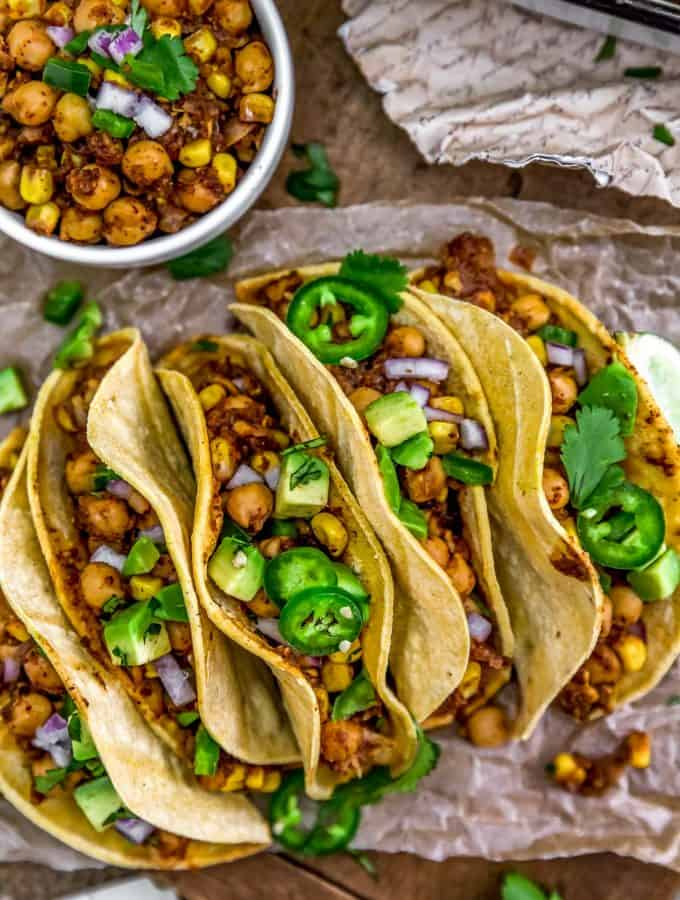 Spicy Pineapple Chickpea Tacos