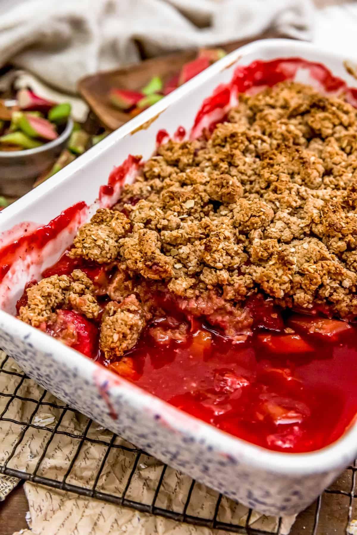 Eating Strawberry Rhubarb Crumble
