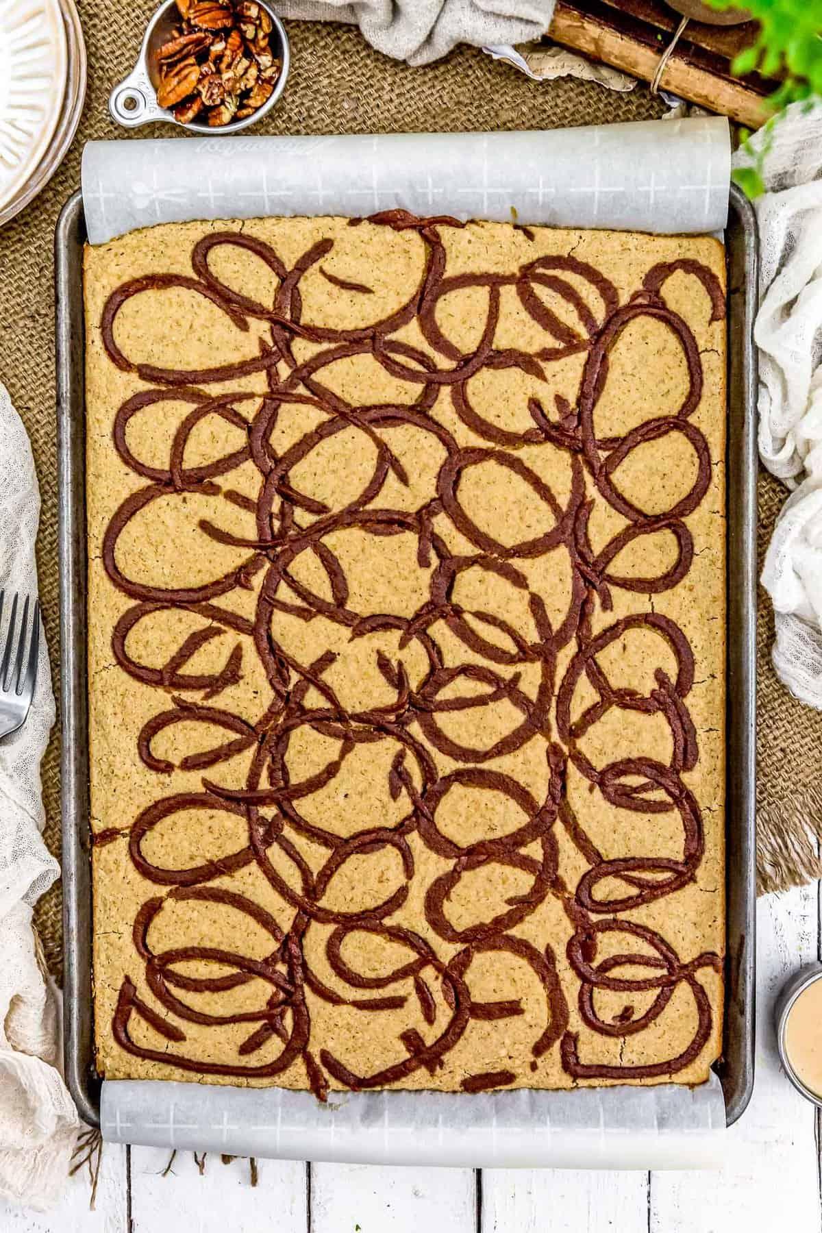 Vegan Cinnamon Bun Sheet Pan Pancakes