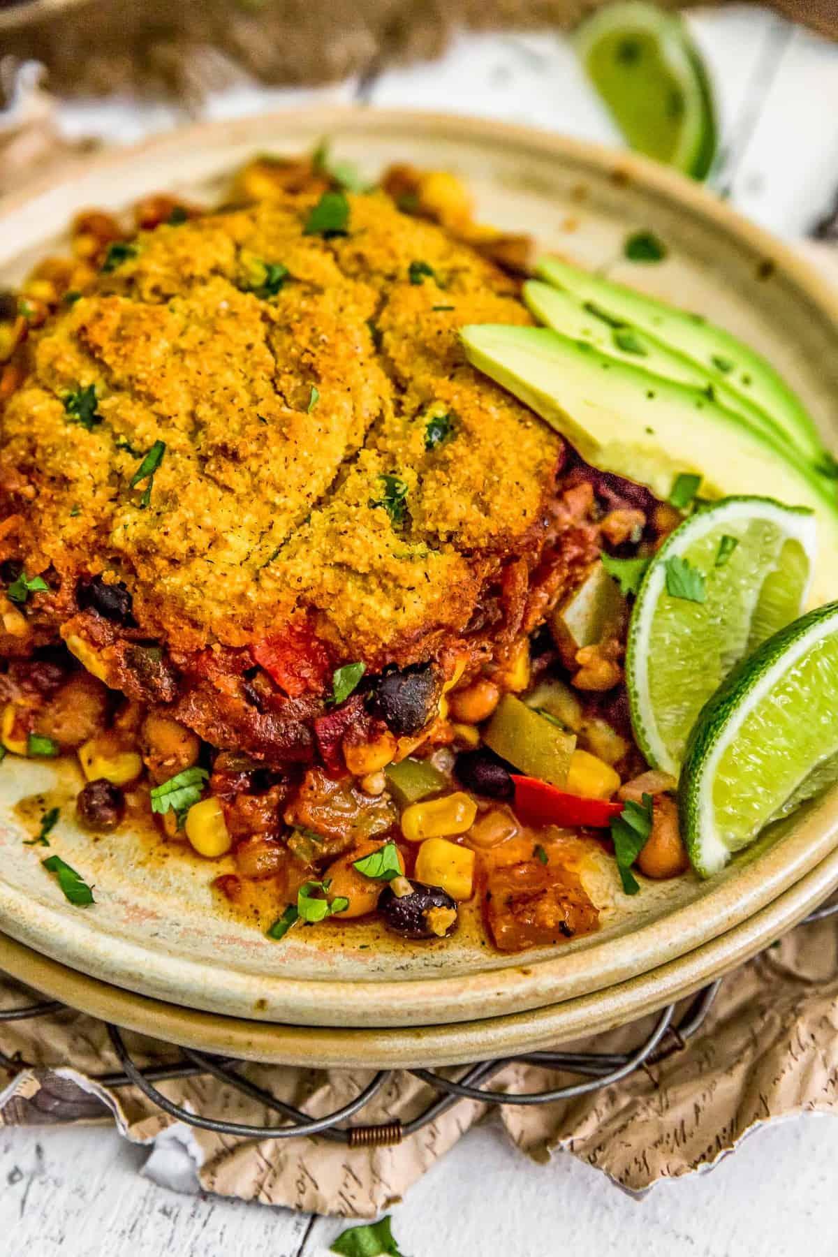 Plate of Vegan Tamale Skillet