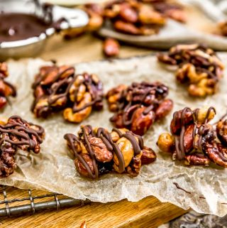 Close up of Maple Glazed Nut Clusters