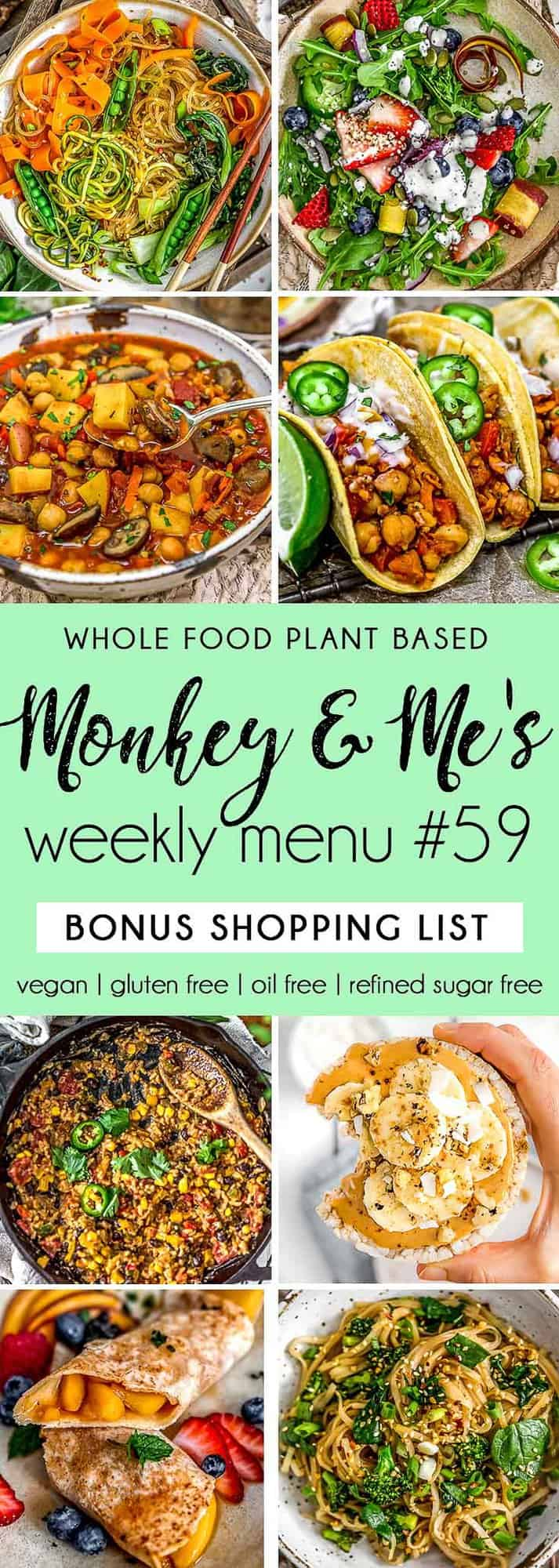 Monkey and Me's Menu 59 featuring 8 recipes