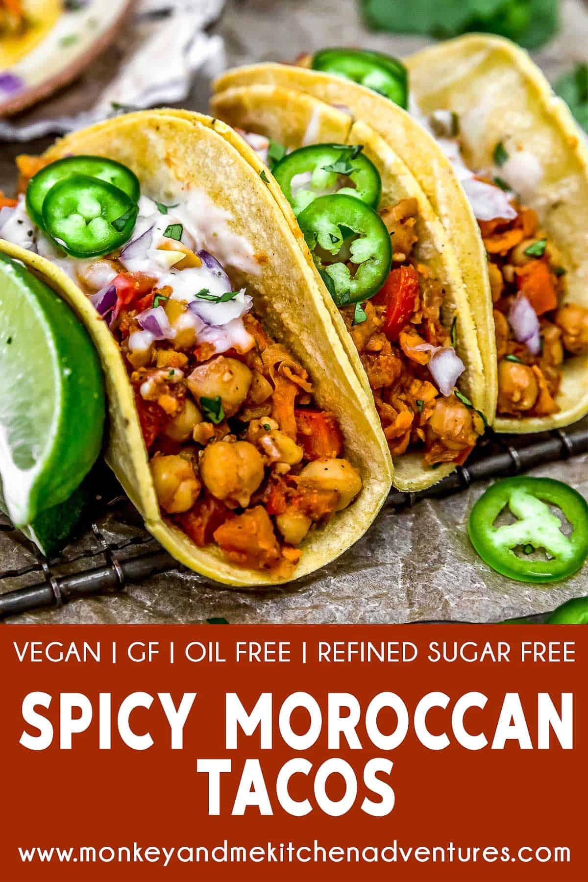 Spicy Moroccan Tacos with text description