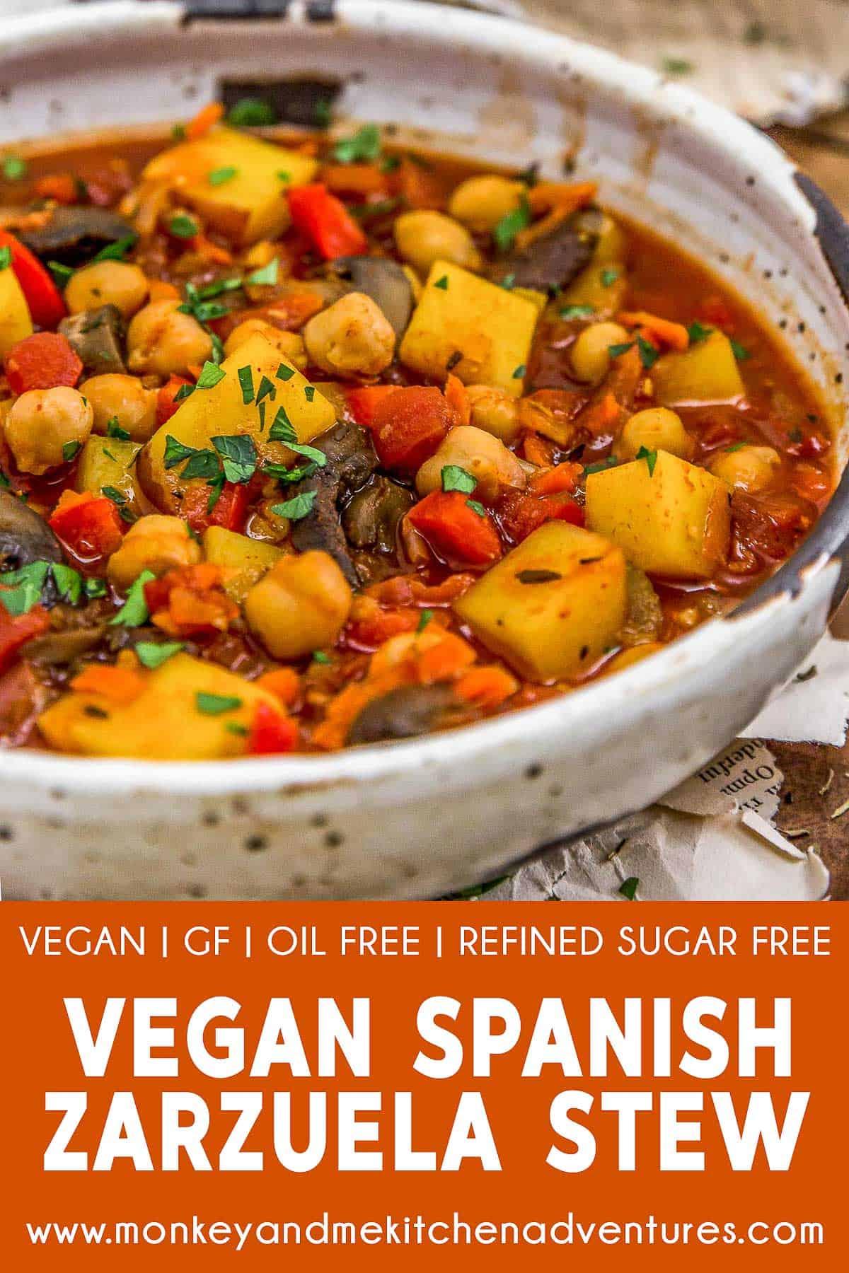 Vegan Spanish Zarzuela Stew with text description