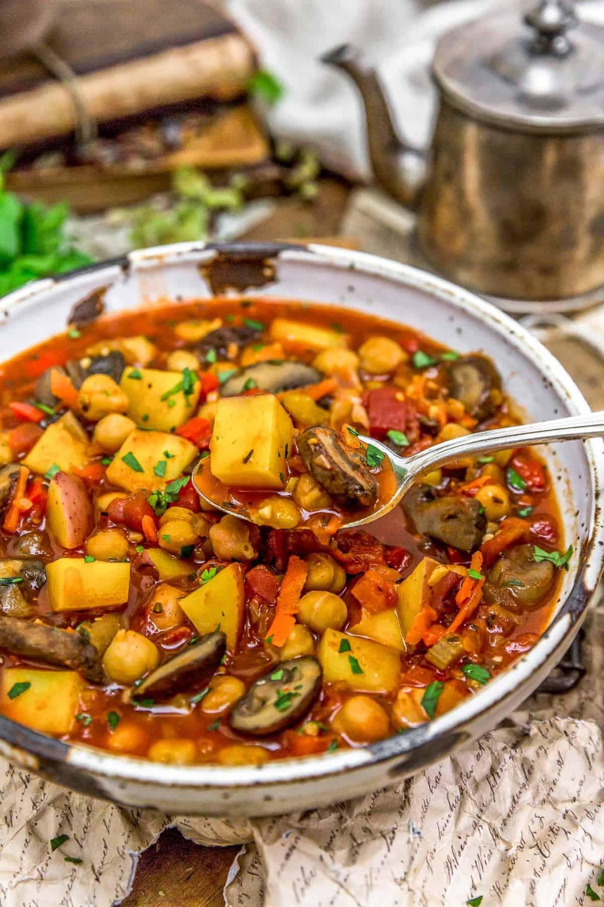 Eating Vegan Spanish Zarzuela Stew