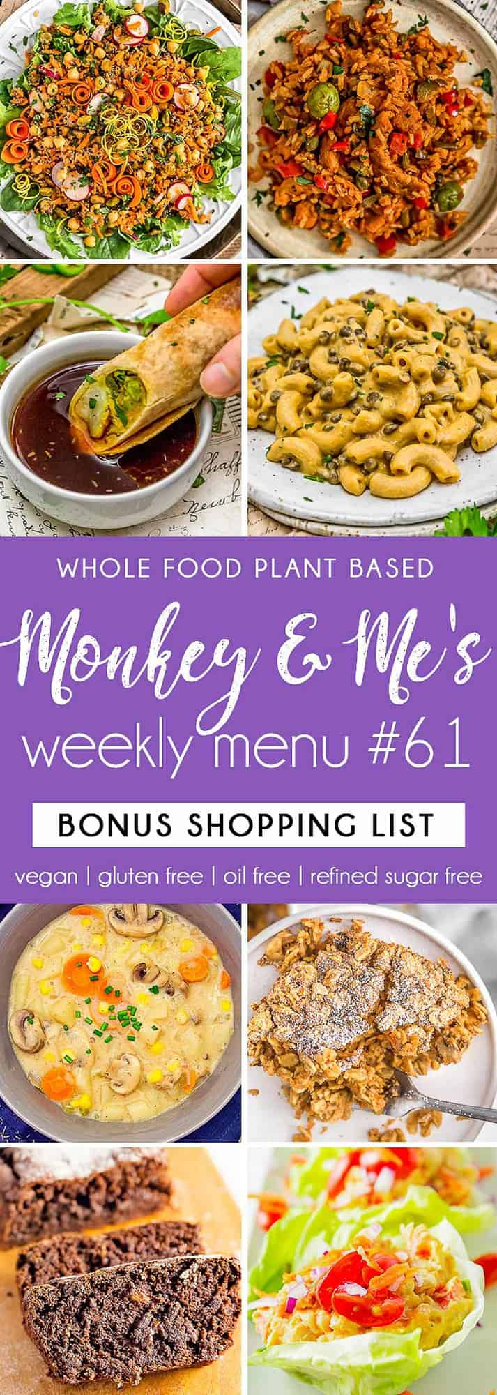 Monkey and Me's Menu 61 featuring 8 recipes