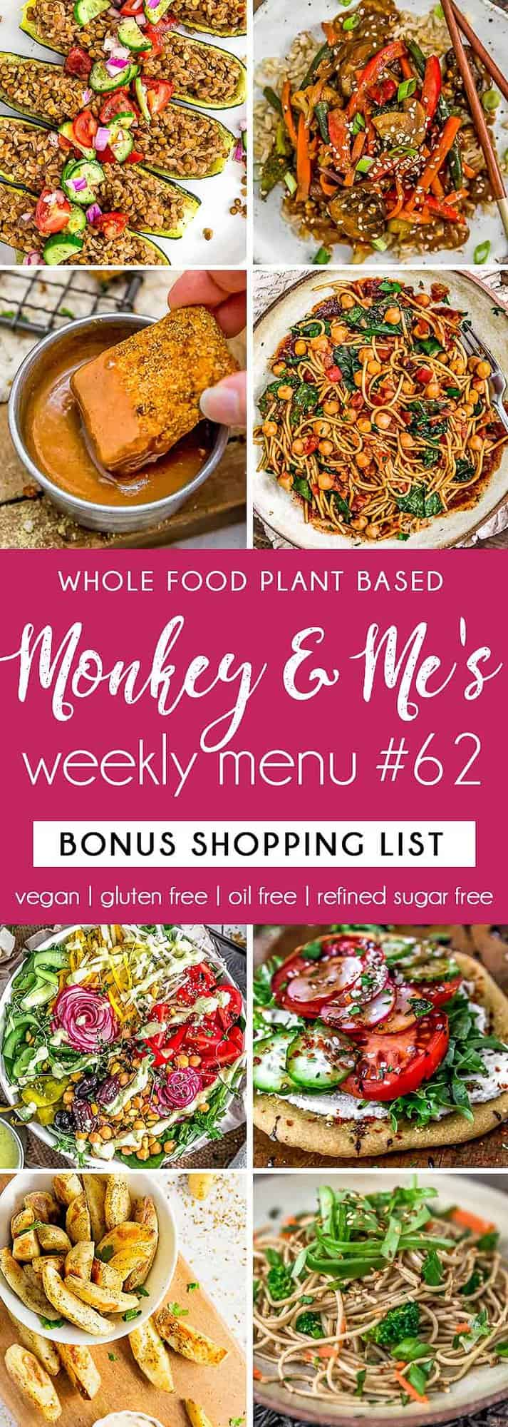 Monkey and Me's Menu 62 featuring 8 recipes
