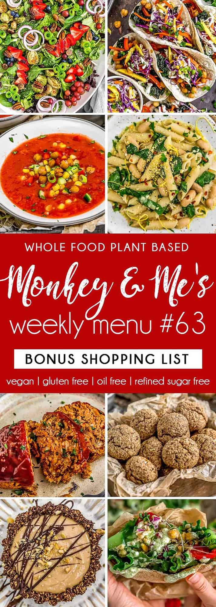 Monkey and Me's Menu 63 featuring 8 recipes