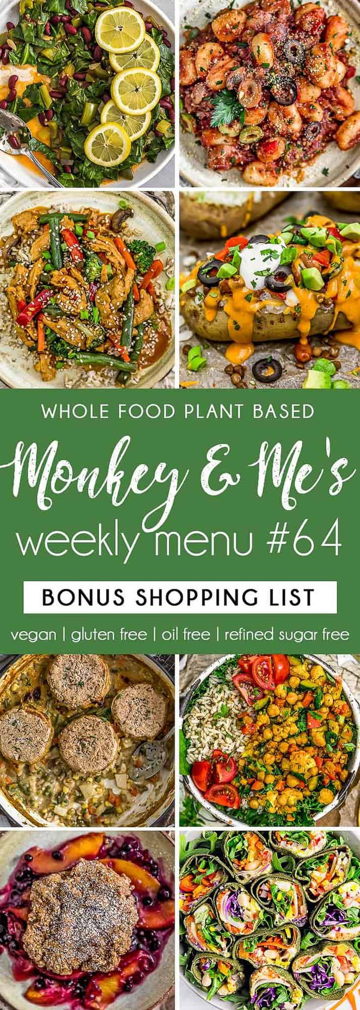 Monkey and Me's Menu 64 featuring 8 recipes