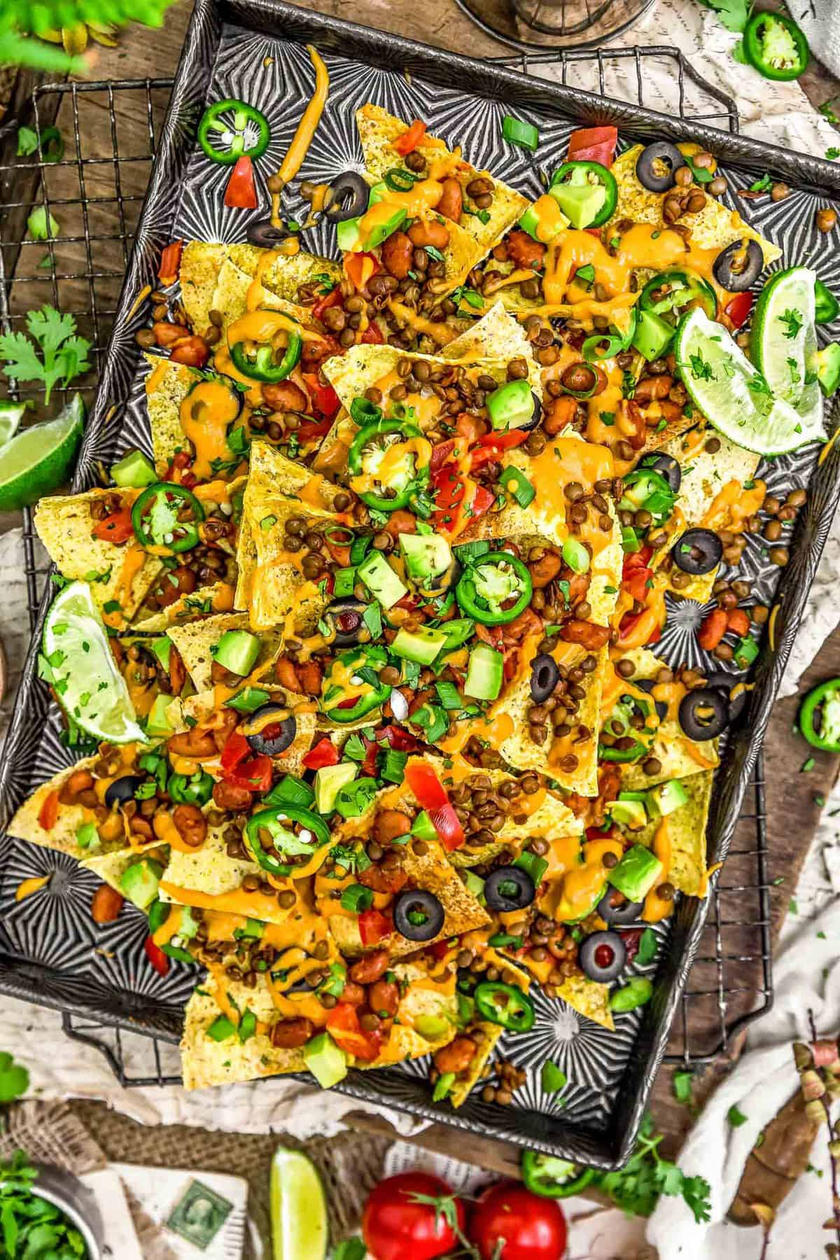 Nacho Supreme with Nut Free Vegan Nacho Cheese Sauce