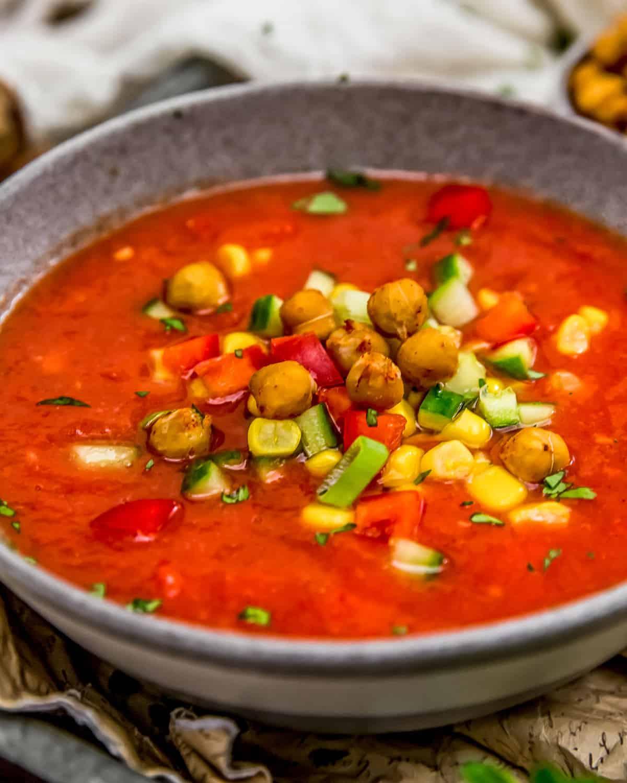 Bowl of Oil Free Gazpacho