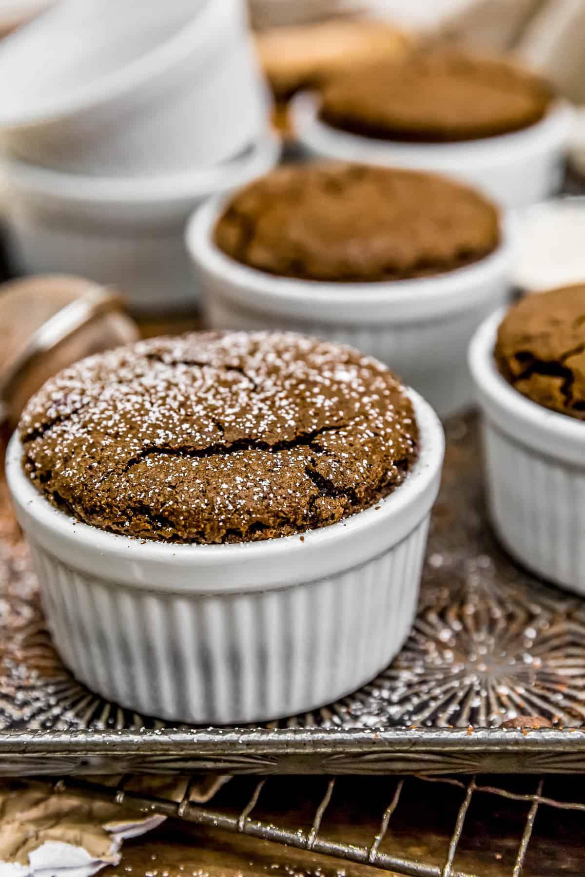 Vegan Chocolate Molten Lava Soufflé