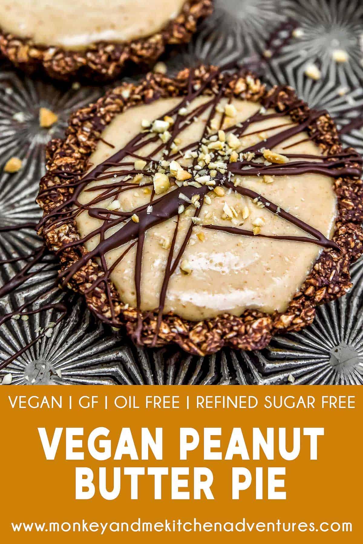 Vegan Peanut Butter Pie with text description