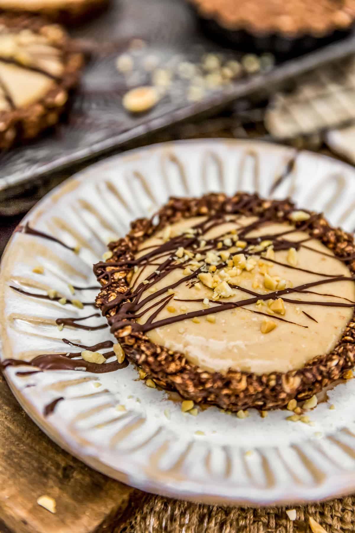 Vegan Peanut Butter Pie on a plate