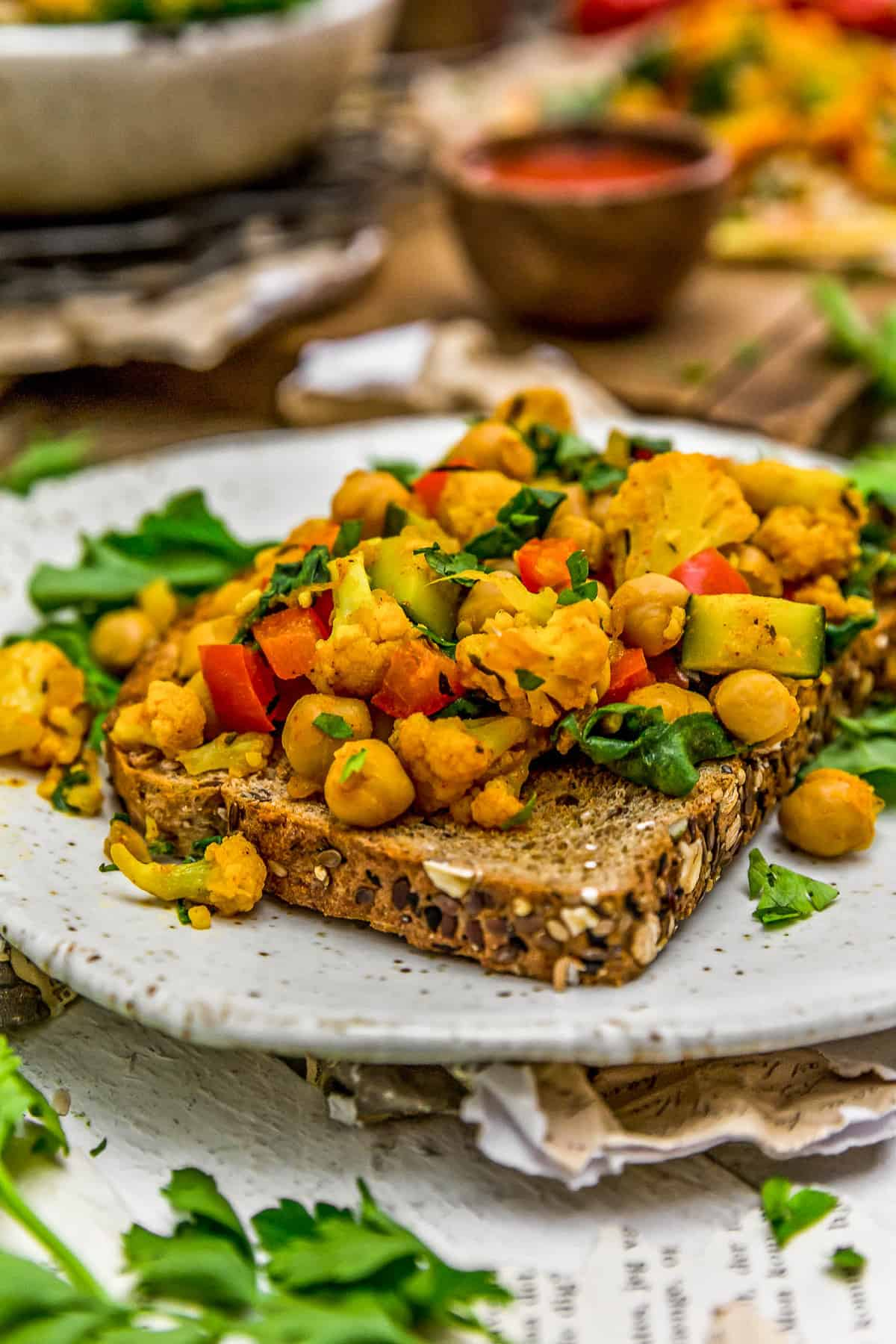 Veggie Breakfast Scramble on toast
