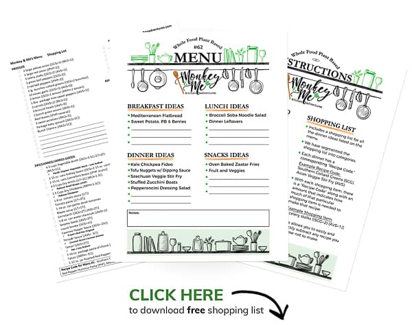Monkey and Me's Menu 62 PDF Display PDF Display