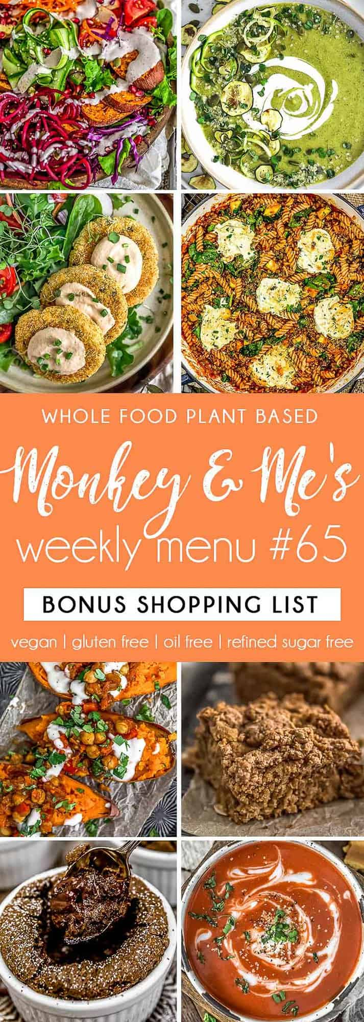 Monkey and Me's Menu 65 featuring 8 recipes