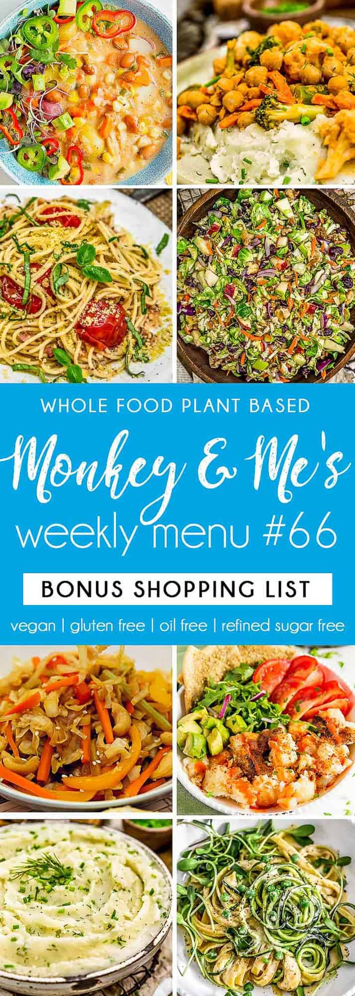 Monkey and Me's Menu 66 featuring 8 recipes