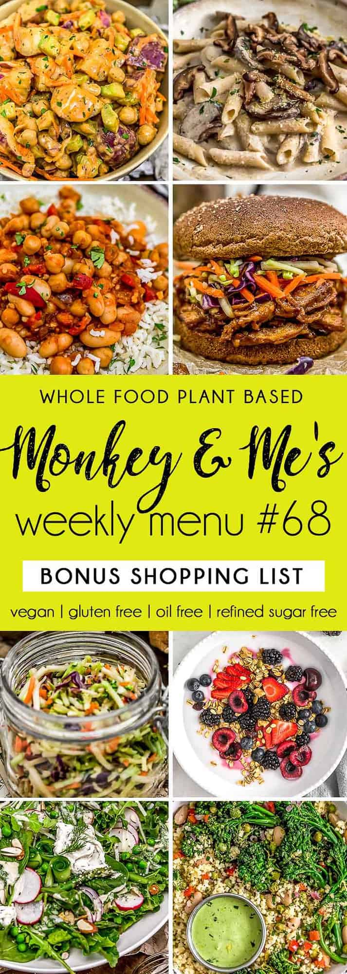 Monkey and Me's Menu 68 featuring 8 recipes