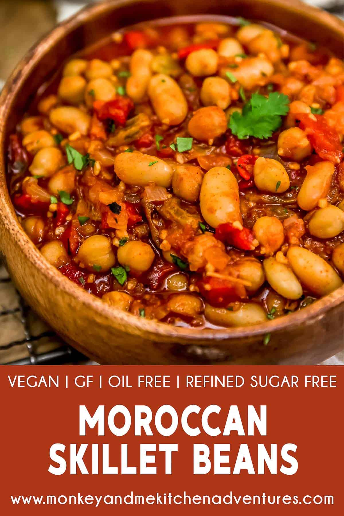 Moroccan Skillet Beans with text description