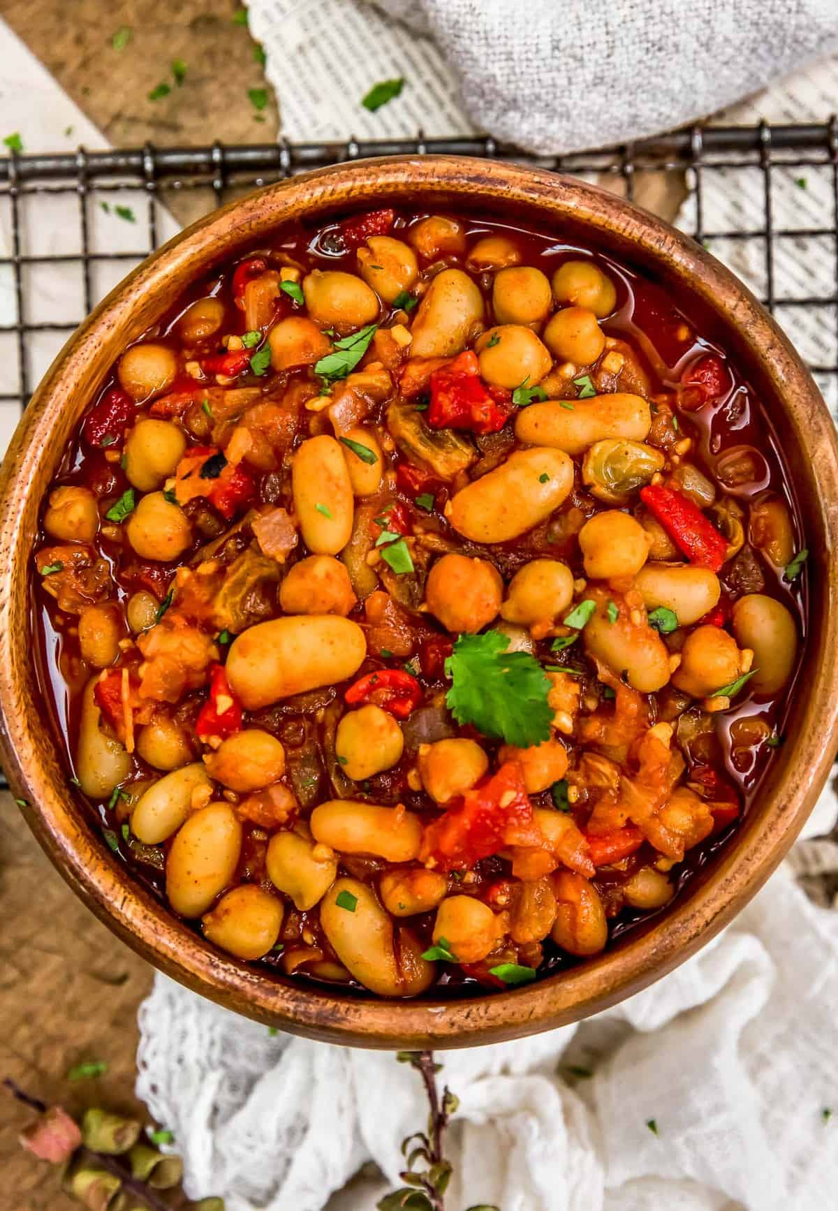 Bowl of Moroccan Skillet Beans