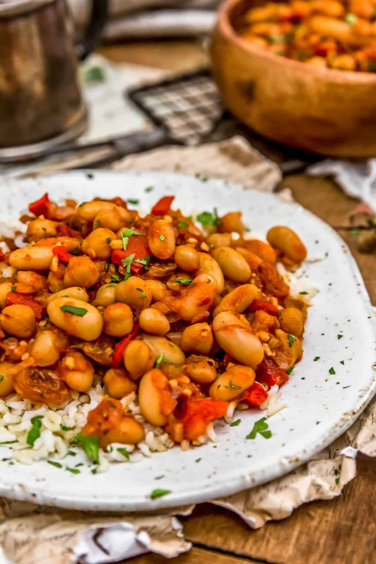 Plate of Moroccan Skillet Beans