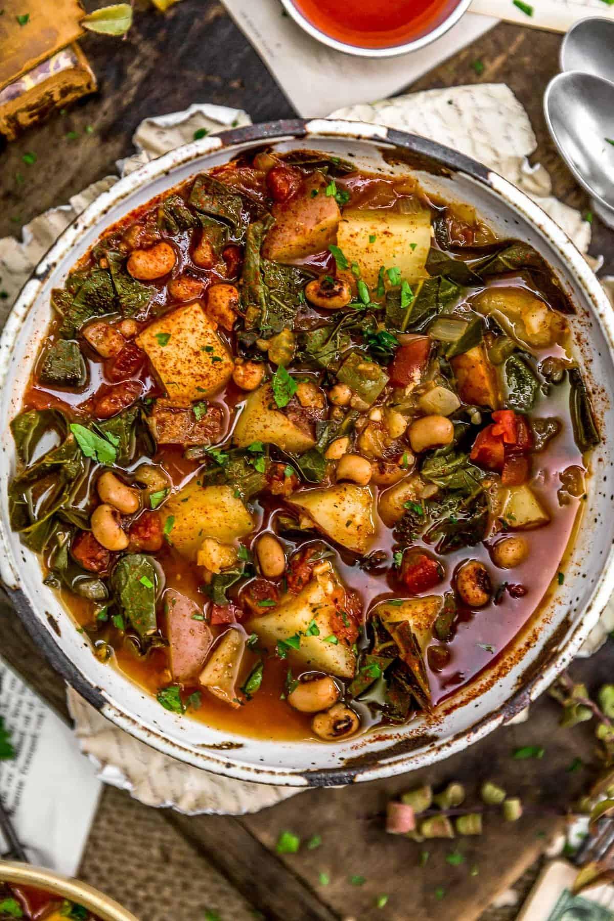 Southern Collard Green Potato Stew