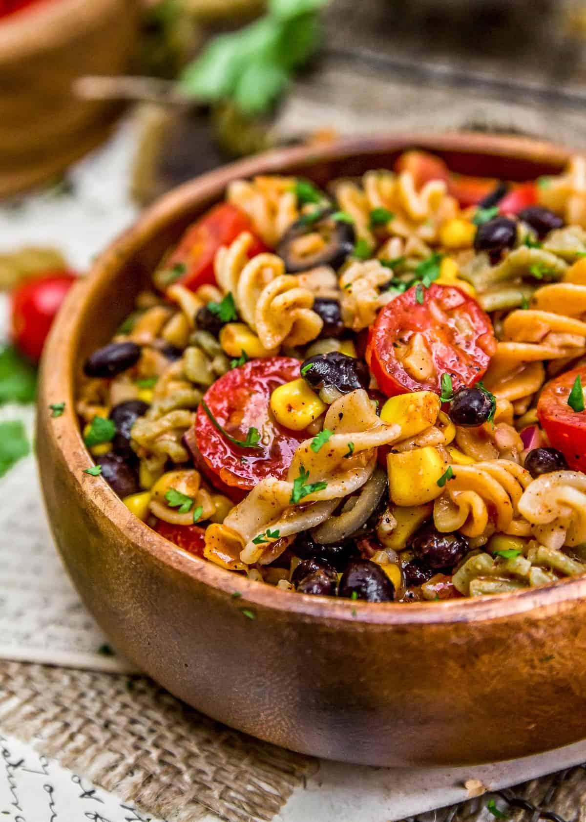 Bowl of Tex-Mex Pasta Salad