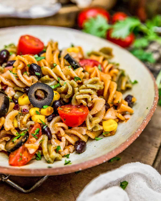 Plated Tex-Mex Pasta Salad