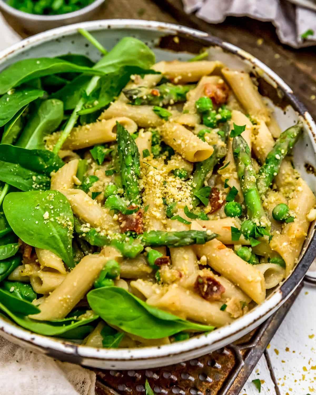 Bowl of Vegan Carbonara Pasta