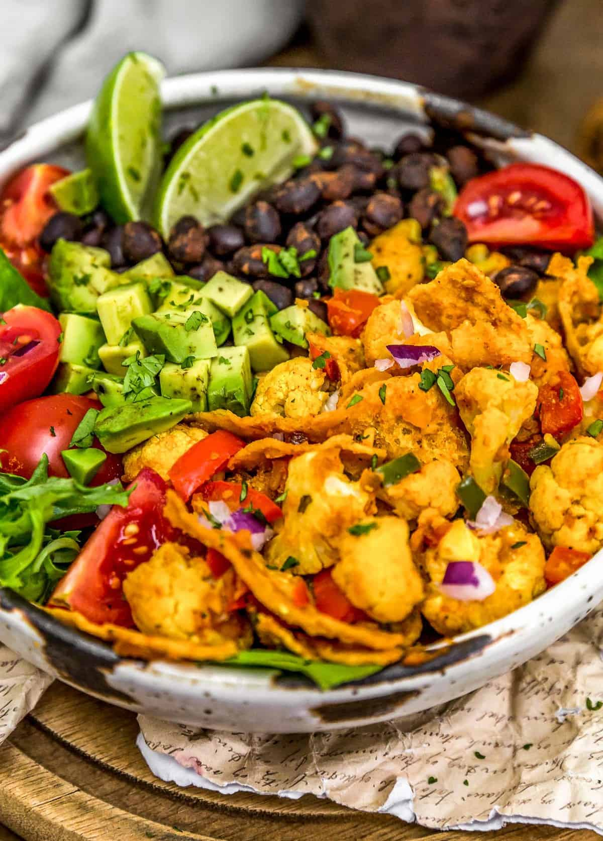 Close up of Vegan Cauliflower Migas