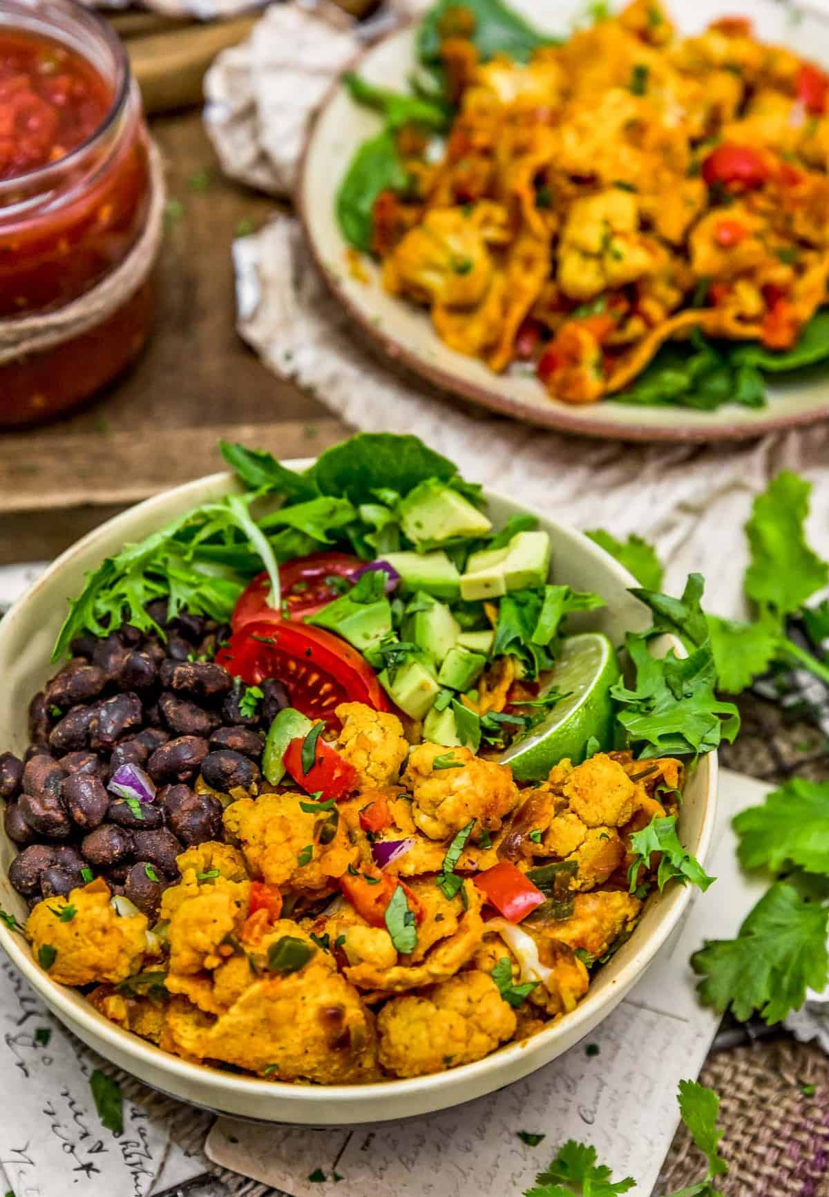 Buddha bowl of Vegan Cauliflower Migas