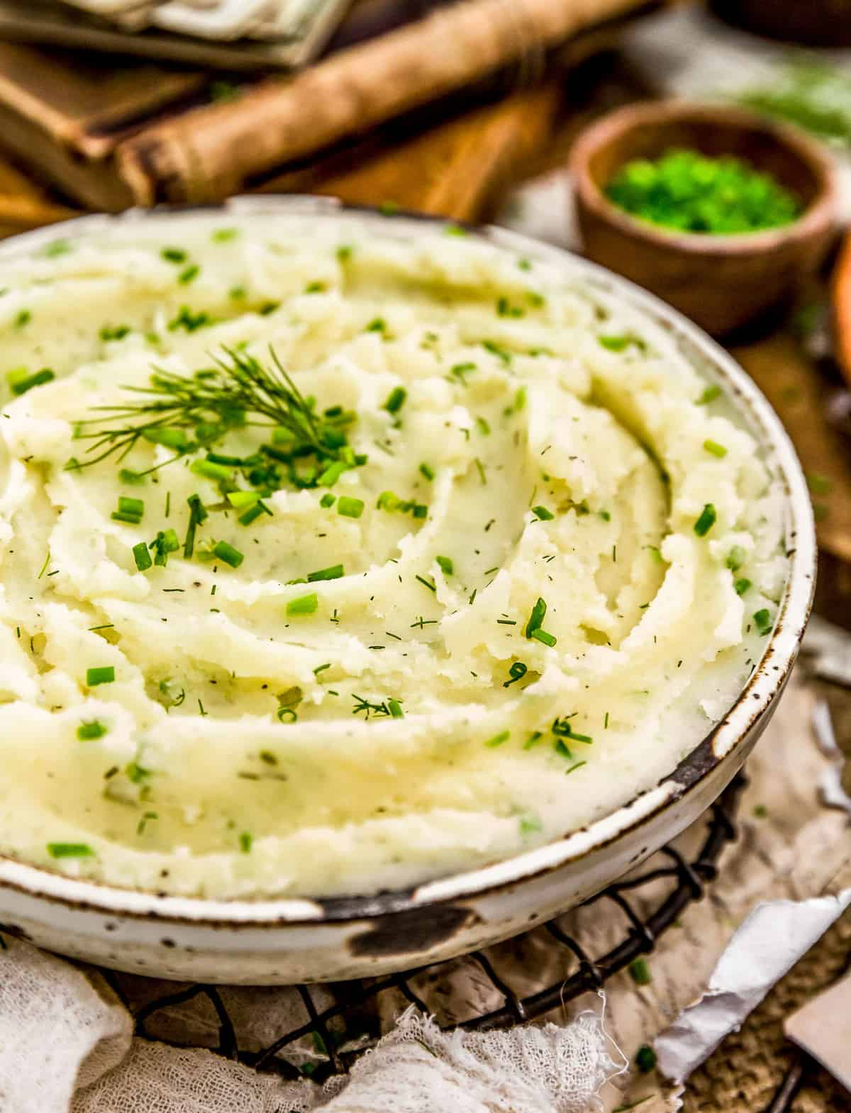 Bowl Vegan Ranch Mashed Potatoes