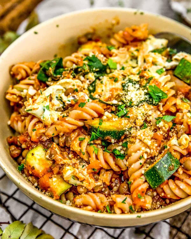 Veggie Skillet Lasagna in a bowl