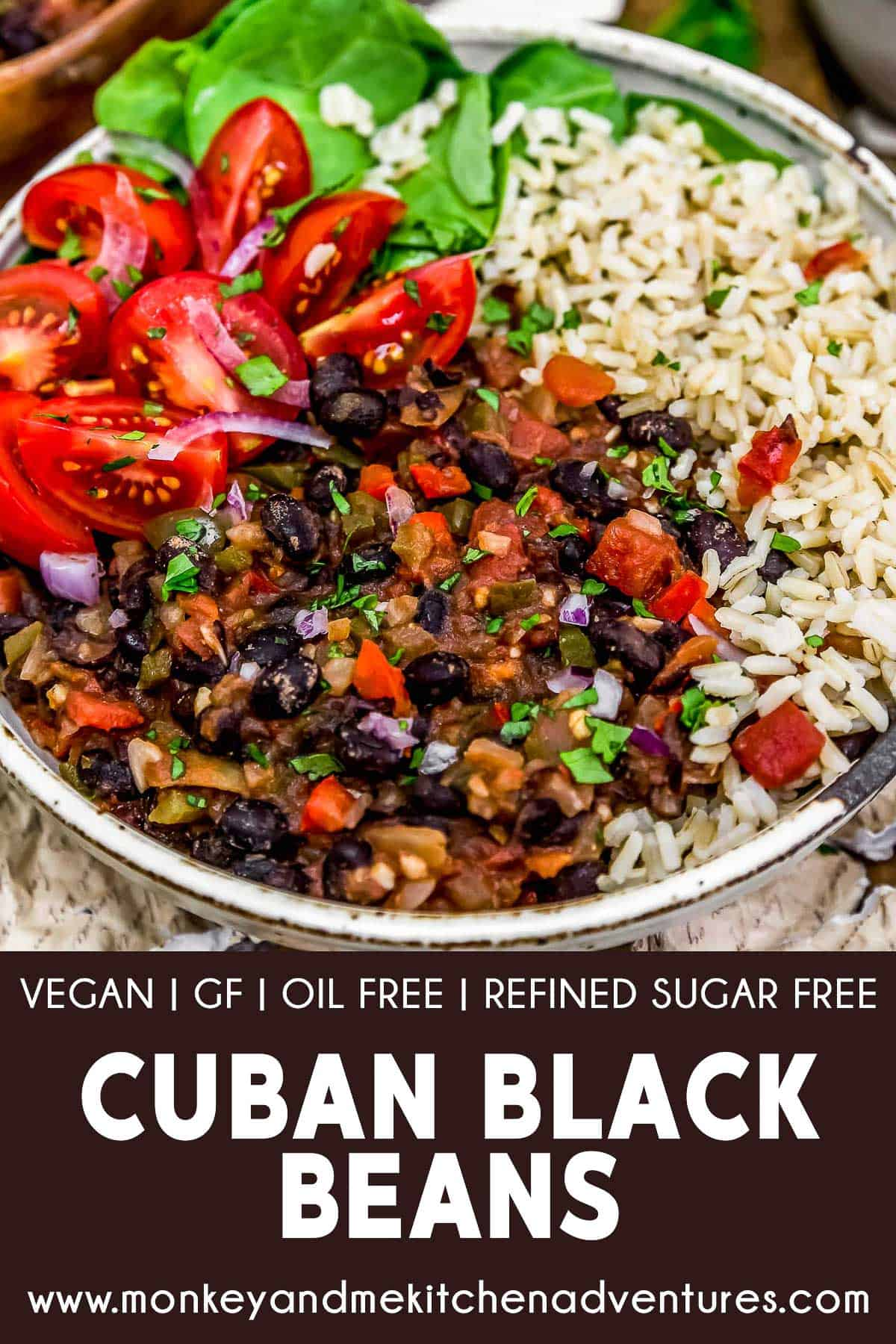 Cuban Black Beans with text description