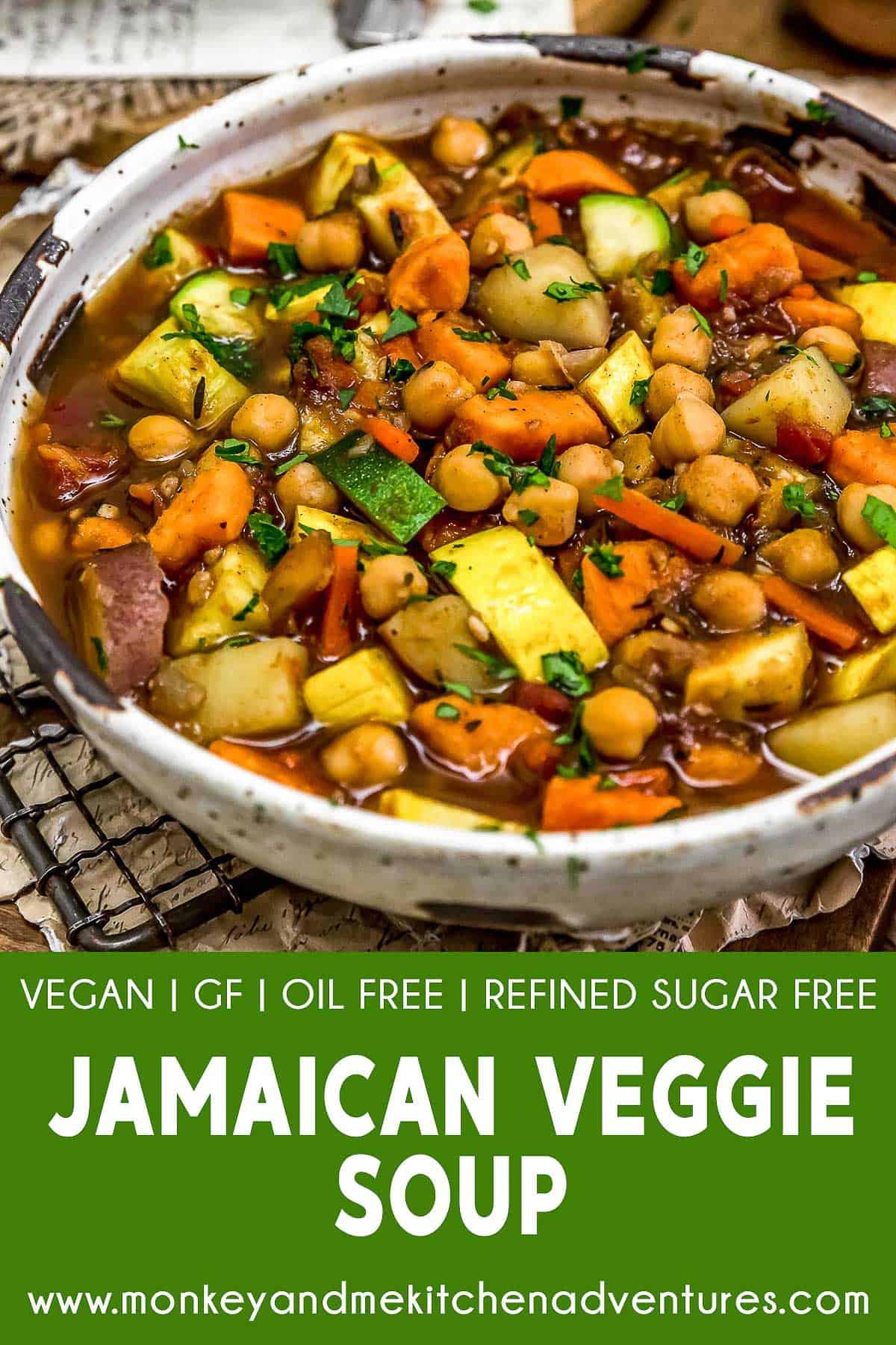 Jamaican Veggie Soup with text description