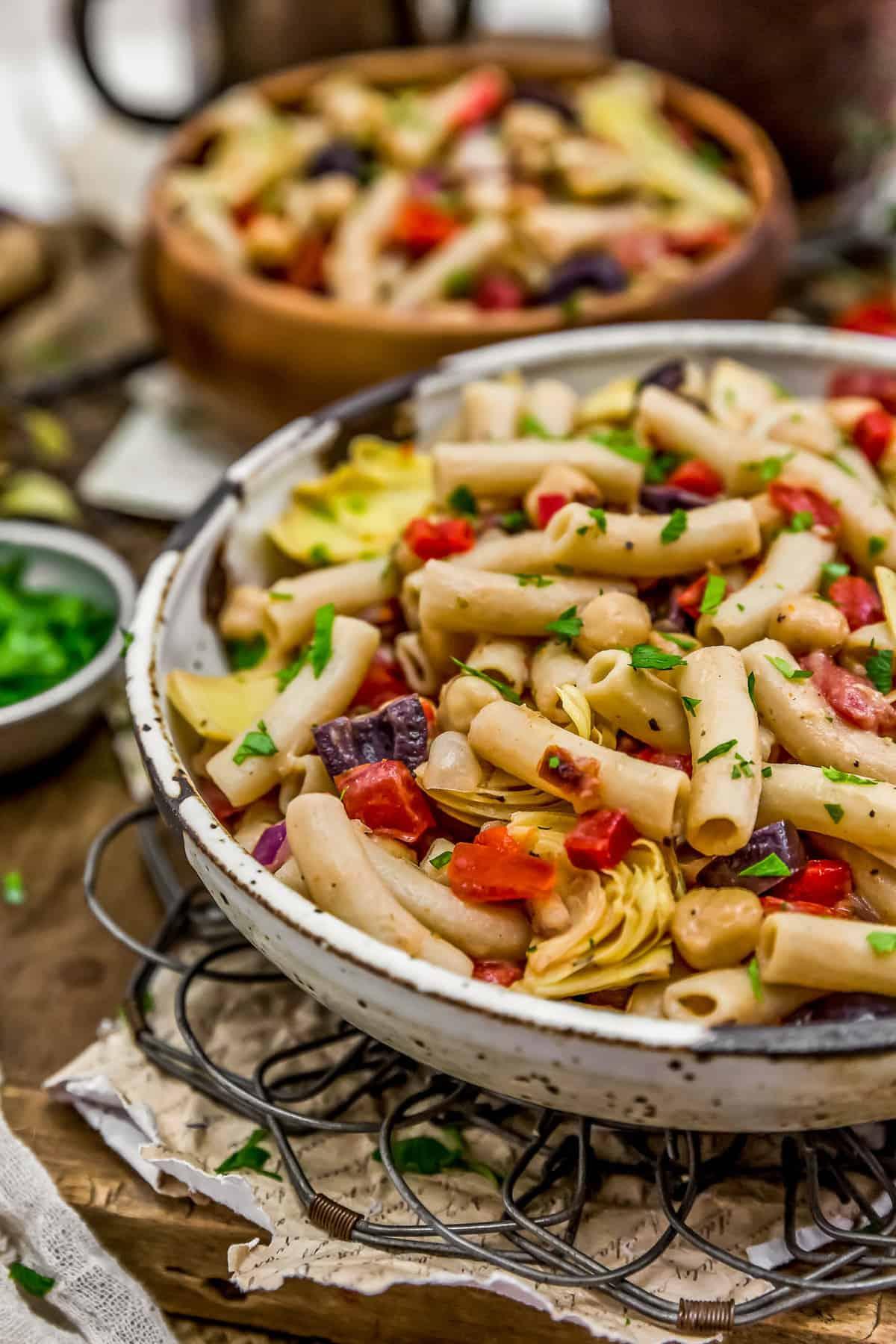 Bowls of Mediterranean Pasta Salad